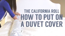 How to Put on a Duvet Cover: The California Roll Way