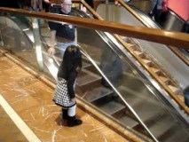 "This Little Girl Tells Everyone ""bye"" at the Mall"