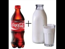 What happens if you put milk in Coca Cola