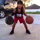 6 Year old girl has amazing basketball skills