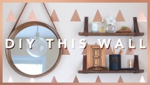 Accent Wall and Leather Strap Shelves