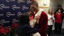 Soldier Dressed As Santa Surprises Mom At Hospital With Early Homecoming
