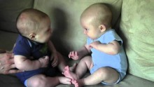 Twin Boys Finally Notice Each other for the First Time