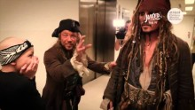 Johnny Depp visits children in hospital dressed as Captain Jack Sparrow