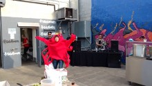 Man In Crab Costume Dances To Billy Jean
