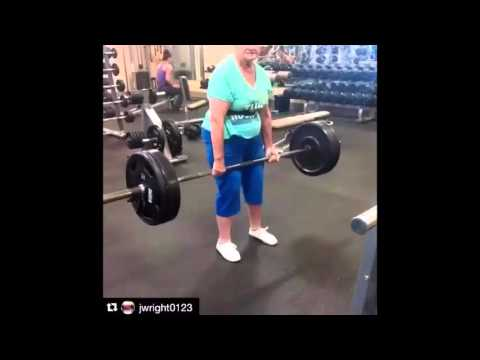 78 Year Old Woman Deadlifts 225 Pounds with Ease