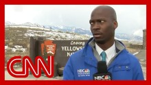 Reporter's hilarious reaction to approaching bison goes viral